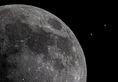 La asombrosa imagen de la Luna junto al recorrido de la Estación Interespacial