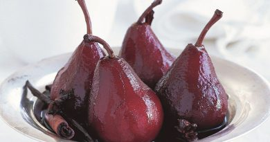 Peras al vino: una explosión de sabor fácil y de rápida preparación